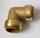 Brass Push Fit 90 Degree Elbow Bend 28mm - 27122201